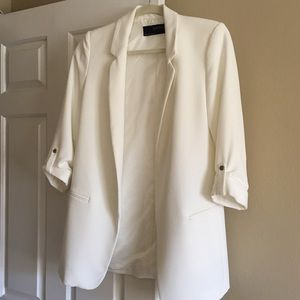 New Zara White Blazer (long, boyfriend fit)